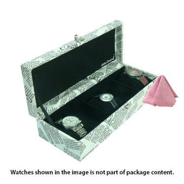 5 Slot Leatherette Vintage Vogue Art Watch Organiser_ADWB0000136