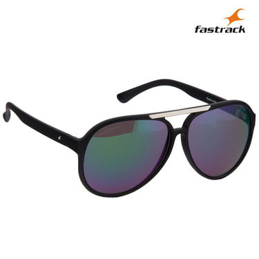 Fastrack 100% UV Protection Sunglasses For Men_P298gr1 - Green Mirror