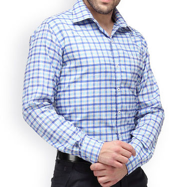 Copperline Cotton Rich Formal Shirt_CPL1151 - Blue