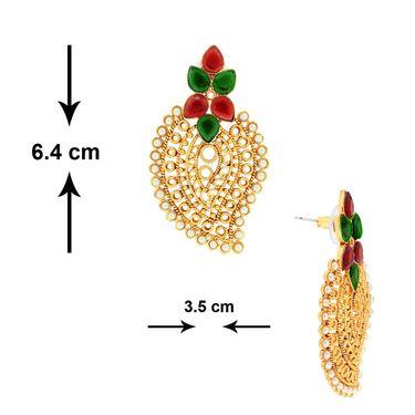 Spargz Paisely Design Pearl Earring_Aier376 - Multicolor