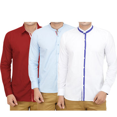 Pack of 3 Casual Shirts For Men_19020021