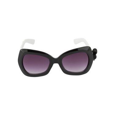 Swiss Design Full Rim Plastic Sunglass For Unisex_S6474bk - Purple