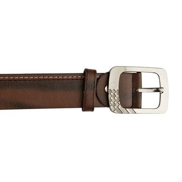 Mango People Leatherite Casual Belt For Men_Mp102br - Brown