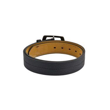 Mango People Leatherite Casual Belt For Men_Mp103bk - Black