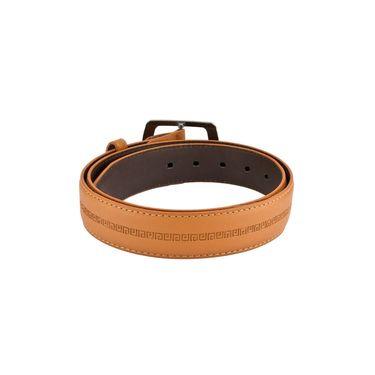 Mango People Leatherite Casual Belt For Men_Mp106tn - Tan