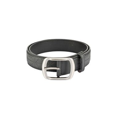 Mango People Leatherite Casual Belt For Men_Mp107bk - Black