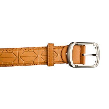 Mango People Leatherite Casual Belt For Men_Mp107tn - Tan