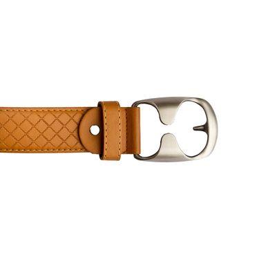 Mango People Leatherite Casual Belt For Men_Mp108tn - Tan