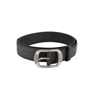 Mango People Leatherite Casual Belt For Men_Mp109bk - Black