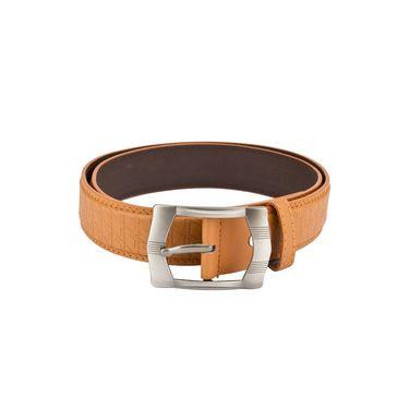 Mango People Leatherite Casual Belt For Men_Mp111tn - Tan