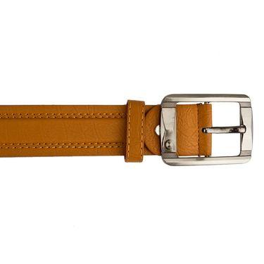 Mango People Leatherite Casual Belt For Men_Mp115tn - Tan