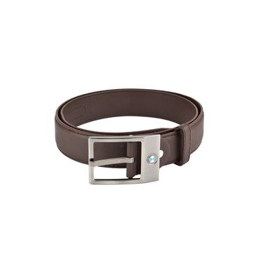 Mango People Leatherite Casual Belt For Men_Mp116br - Brown