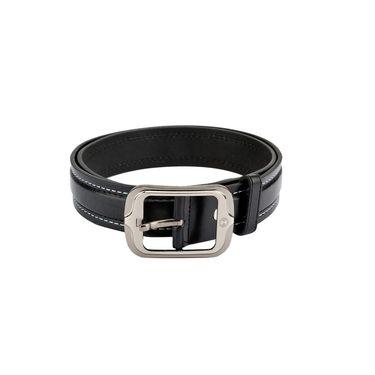Mango People Leatherite Casual Belt For Men_Mp117bk - Black