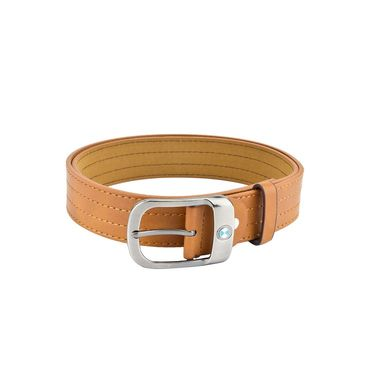 Mango People Leatherite Casual Belt For Men_Mp122tn - Tan