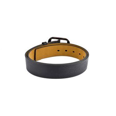 Mango People Leatherite Casual Belt For Men_Mp125bk - Black