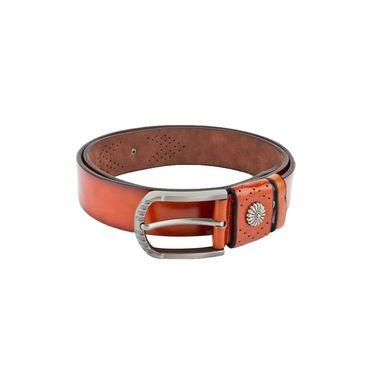 Swiss Design Leatherite Casual Belt For Men_Sd01tn - Tan