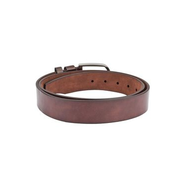 Swiss Design Leatherite Casual Belt For Men_Sd03br - Brown