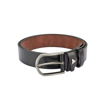 Swiss Design Leatherite Casual Belt For Men_Sd03blk - Black