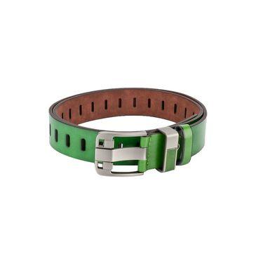 Swiss Design Leatherite Casual Belt For Men_Sd04gr - Green