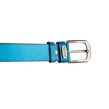 Swiss Design Leatherite Casual Belt For Men_Sd06bl - Blue