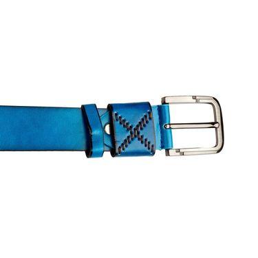 Swiss Design Leatherite Casual Belt For Men_Sd08bl - Blue