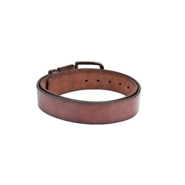 Swiss Design Leatherite Casual Belt For Men_Sd08br - Brown