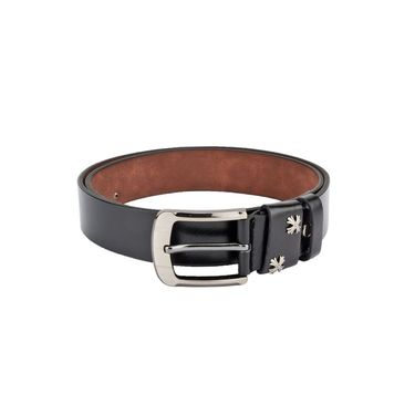 Swiss Design Leatherite Casual Belt For Men_Sd09blk - Black