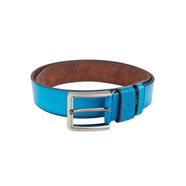 Swiss Design Leatherite Casual Belt For Men_Sd10bl - Blue