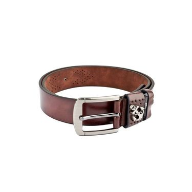 Swiss Design Leatherite Casual Belt For Men_Sd103br - Brown