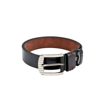 Swiss Design Leatherite Casual Belt For Men_Sd104blk - Black