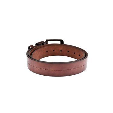 Swiss Design Leatherite Casual Belt For Men_Sd107br - Brown