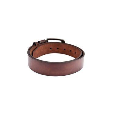 Swiss Design Leatherite Casual Belt For Men_Sd114br - Brown