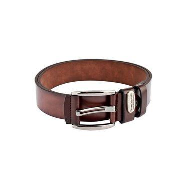 Swiss Design Leatherite Casual Belt For Men_Sd115br - Brown