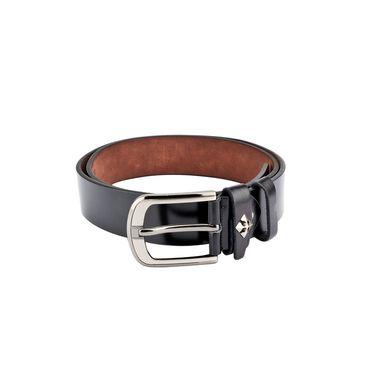 Swiss Design Leatherite Casual Belt For Men_Sd116blk - Black