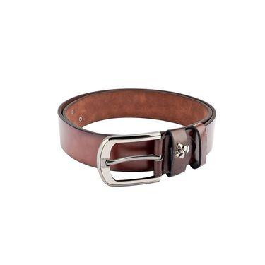Swiss Design Leatherite Casual Belt For Men_Sd116br - Brown