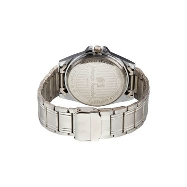 Mango People Round Dial Watch For Men_MP018 - Silver