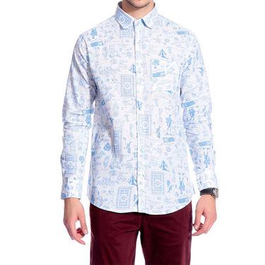 Brohood Slim Fit Full Sleeve Linen Cotton Shirt For Men_A5027 - Blue