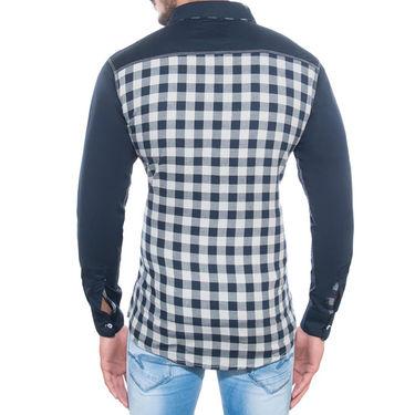 Brohood Slim Fit Full Sleeve Cotton Shirt For Men_M3009 - Navy