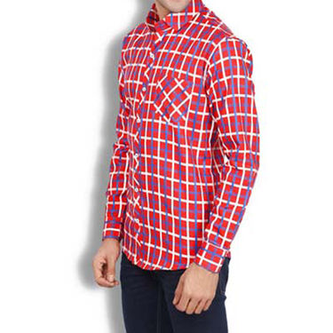 Brohood Slim Fit Full Sleeve Cotton Shirt For Men_A51119 - Multicolor