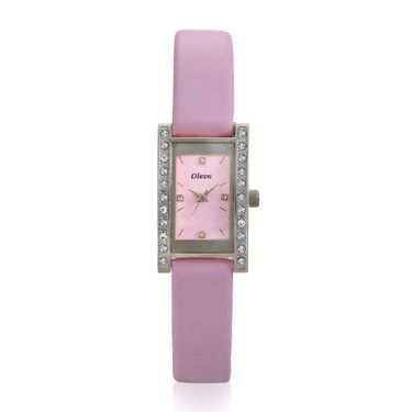 Oleva Analog Wrist Watch For Women_Olw5sp - Silver & Pink