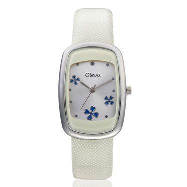 Oleva Analog Wrist Watch For Women_Olw17w - White