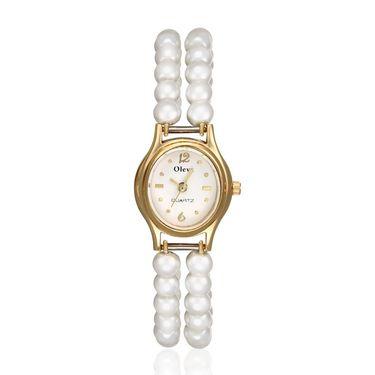Oleva Analog Wrist Watch For Women_Opw2 - White