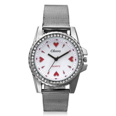 Oleva Analog Wrist Watch For Women_Osw3w - White
