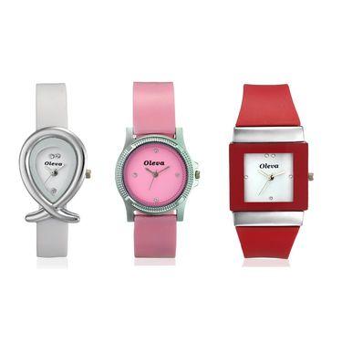 Combo of 3 Oleva Analog Wrist Watches For Women_Opuc04