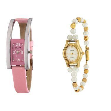 Combo of 2 Oleva Analog Wrist Watches For Women_Ovd164