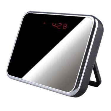 ZINGALALAA Motion Detection Desktop Mirror Clock with Hidden Camera DVR Recorder