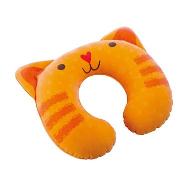 Intex 68678 Inflatable Cat Shape Travel Pillow Orange