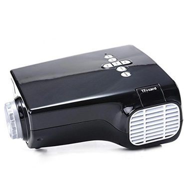 ZINGALALAA E03 16W Mini Multimedia LCD Image System LED Projector with HDMI / USB / VGA / Micro SD / TV Port - Black OPJ-320601