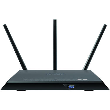 Netgear R7000-100PES Nighthawk AC1900 Dual Band WiFi 600 + 1300 Mbps speeds Gigabit Router (Black)