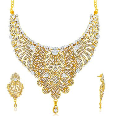 Spargz Brass Metal Necklace Set_Ains091